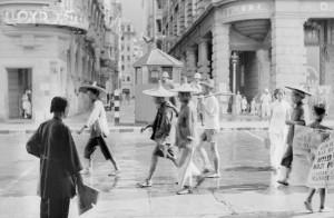 Busy Street Scene Hong Kong